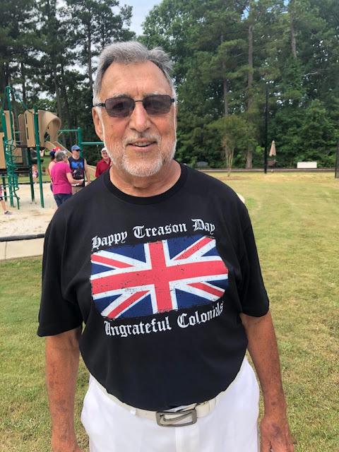 British Ex-Pat this morning at a parade