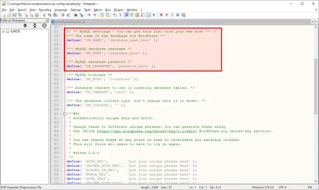 Cari Pengaturan Database WordPress