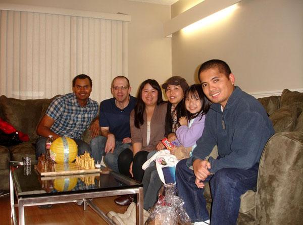 Chillin' at the condo of my high school friend Adam in Pasadena, CA...on December 29, 2010.