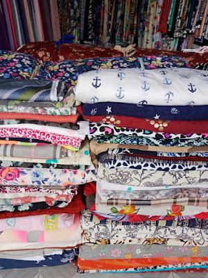 Vải thun cotton bông, hình xuất dư tại Bình Dương