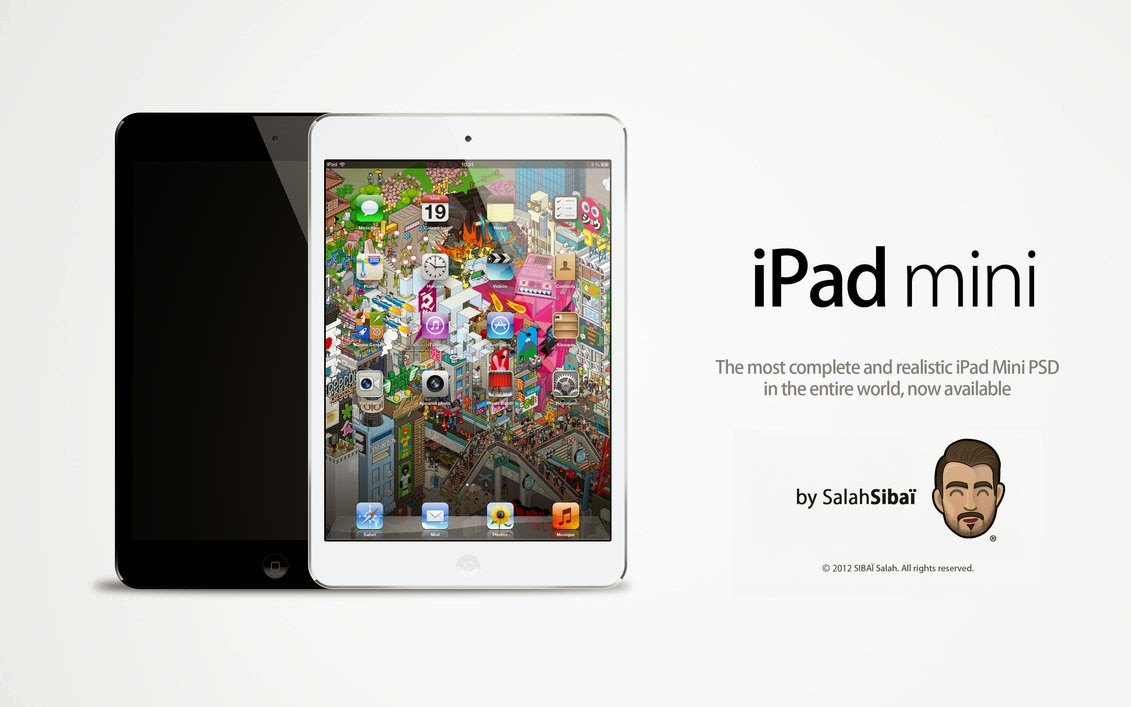 Realistic iPad Mini PSD