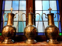 Holy Oil Set from a Cathedral Ambry