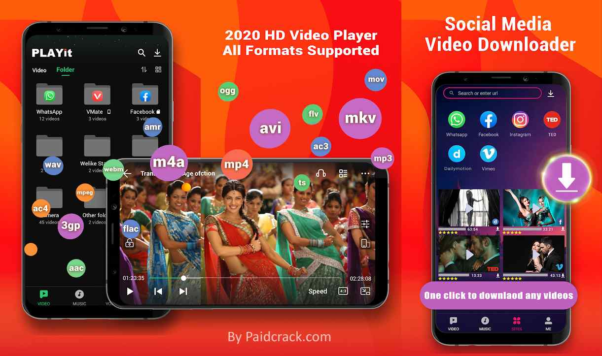 PLAYit Vip Mod Apk Is a HD video player is your best online video mate and online music player in India to enjoy latest Bollywood movies, Hindi films