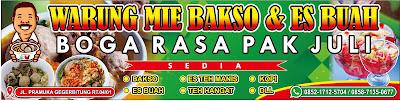 Banner Bakso dan Es Campur