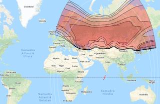 Footprint Satellite ABS 2A 75.0°E KU Band
