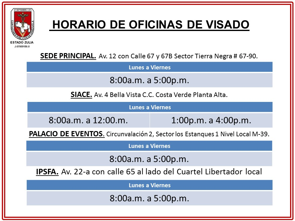 Infodiario c c p e z horario de oficinas de visado for Horario oficina adeslas