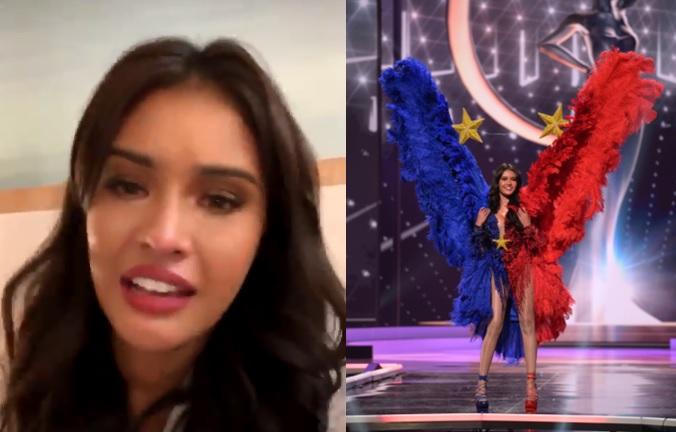Rabiya Mateo cries, apologizes over Miss Universe national costume mishap