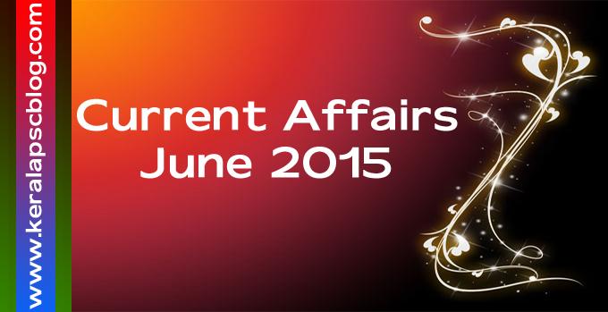 Current Affairs June 2015 PDF