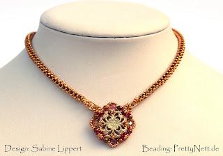 """Beaded bracelet """"Yasim"""" - beaded by PrettyNett.de"""