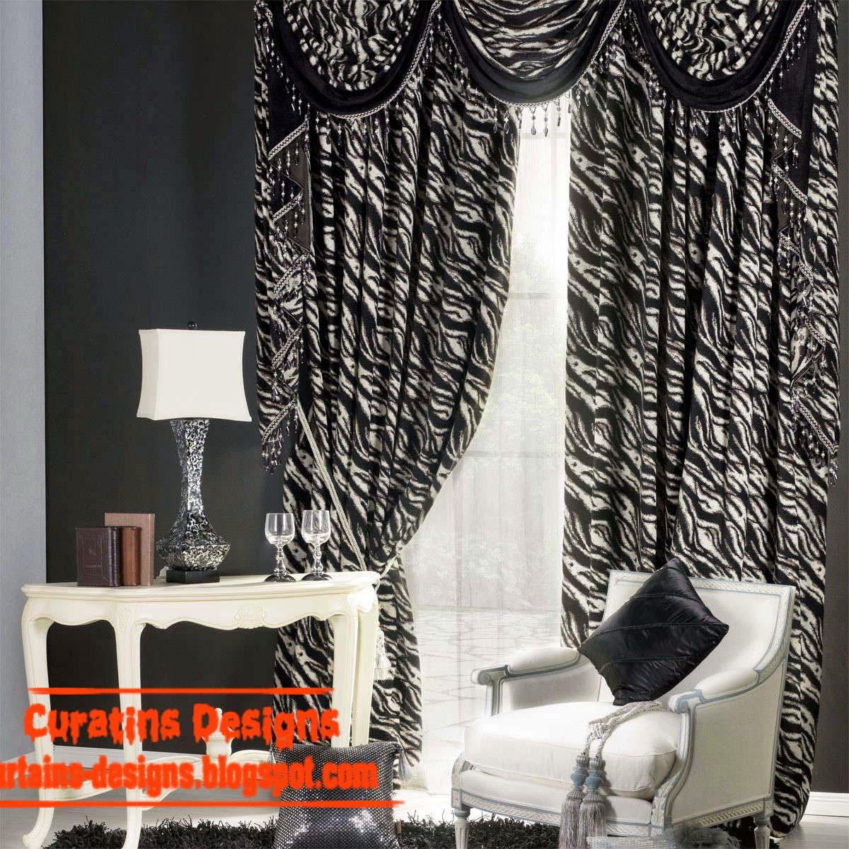 Black And White Curtains, Top 10 Designs Of Black And