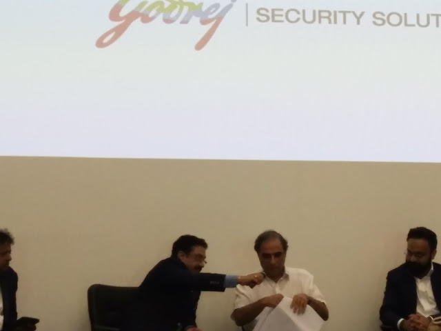 Hafeez Contractor and Anubhav Gupta at Godrej Secure Spaces