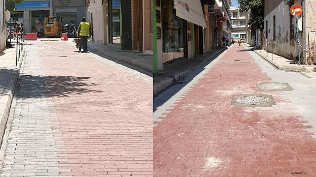 Ολοκληρώνεται η Ανάπλαση της οδού Κοραή στο Άργος