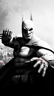 Batman Monochrome Mobile HD Wallpaper