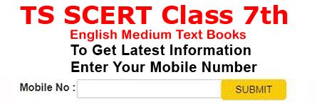 Telangana SCERT Class 7th English Medium Books