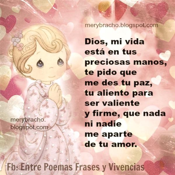 frases con oracion a Dios por mi vida en sus manos mery bracho