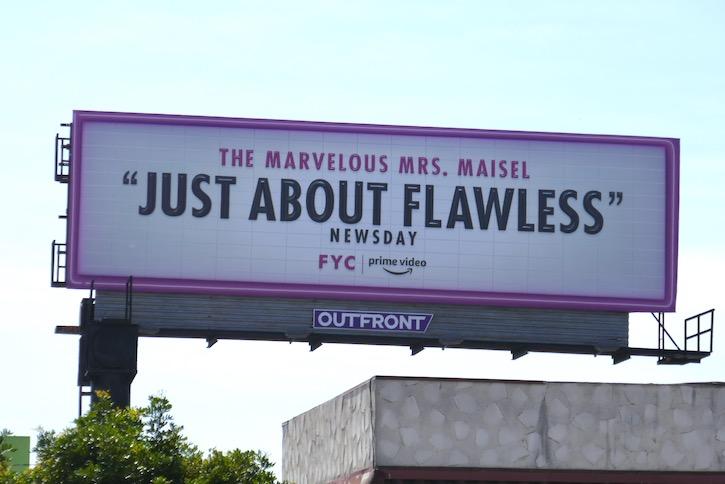 Mrs Maisel season 3 Emmy FYC billboard