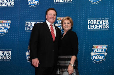 Richard Childress poses on the red carpet with his wife Judy. (Photo by Jared C. Tilton/Getty Images)