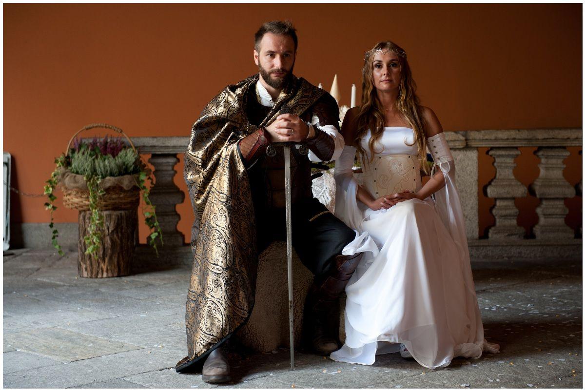 Matrimonio Tema Fantasy : Matrimonio sensi medievale fantasy per una