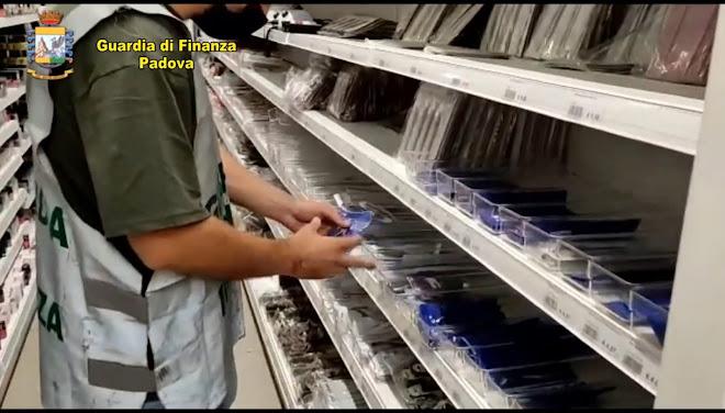 Padova: sequestrati 2 milioni di prodotti contraffatti o non sicuri destinati ad esercizi commerciali della provincia
