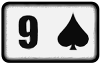 nine of spades playing card