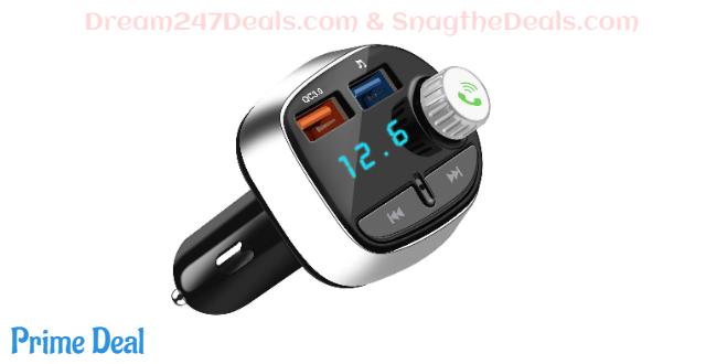 Bluetooth 5.0 FM Transmitter for Car  50% OFF