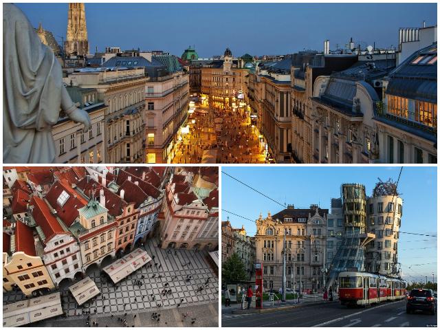 Красиві Європейські міста - Відень та Прага