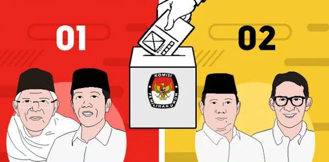 Quick Count Sementara Litbang Kompas: Jokowi-Maruf 55.82 Persen dan Prabowo-Sandi 44.18 Persen