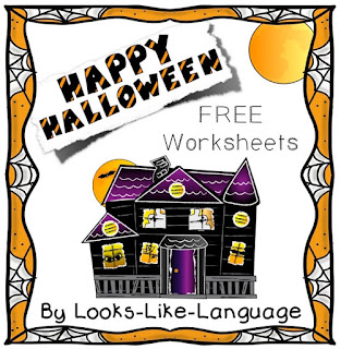 Happy Halloween from Looks-Like-Language! Enjoy these free printables!