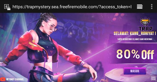 Buka 4 Akun Mystery Shop Trap Squad Free Fire Diskon Hingga 90%