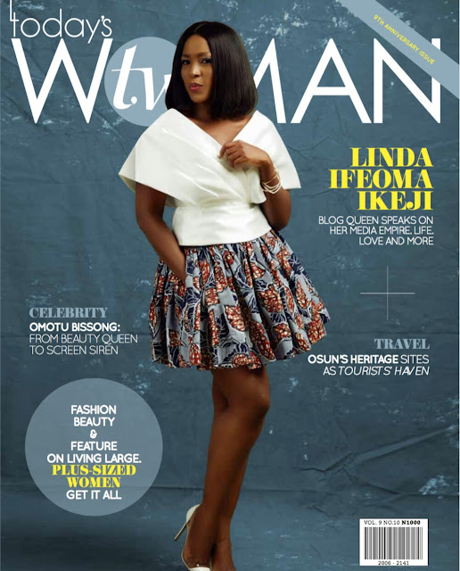 Blogger Linda Ikeji Covers Today's Woman Magazine September Issues.