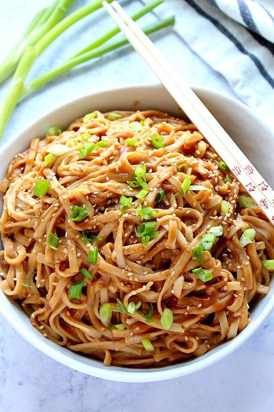 Thai Peanut Noodles Recipe - Delicious Vegan Keto Recipes -2087