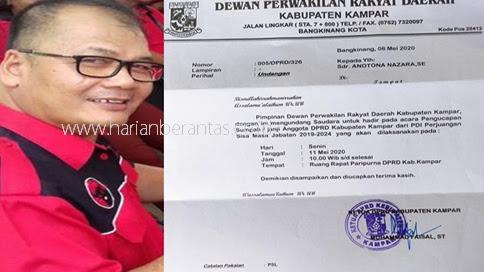 Kabar Bahagia... Anotona Nazara Dikabarkan Akan Dilantik Sebagai Anggota DPRD Kampar Senin Depan