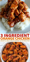 chicken dinner : 3 ingredient orange chicken sauce