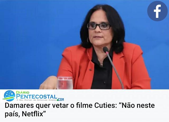 """Damares quer vetar o filme Cuties: """"Não neste país, Netflix"""""""