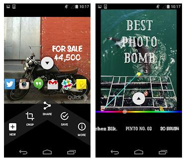 L'application Textgram pour android permet d'ajouter facilement du texte à vos images