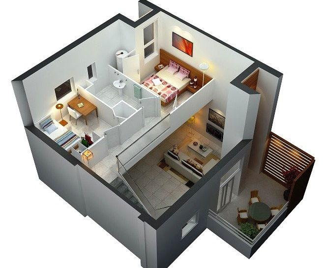 Contoh Gambar Rumah 2 Lantai Mungil Minimalis