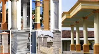 model tiang teras rmh minimalis