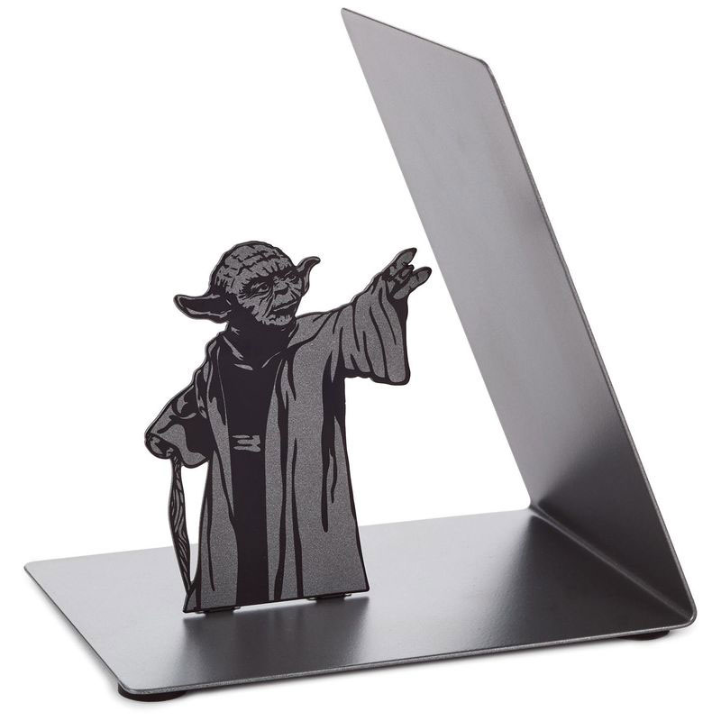 yoda-bookend-02 Star Wars Yoda Metal Bookend by Hallmark Design