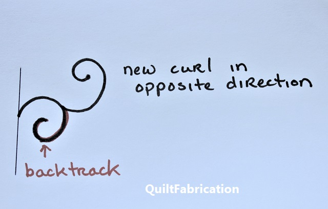backtrack and start a new curl in the opposite direction
