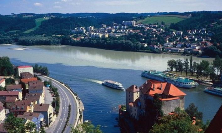 Ilz, Danube, dan Inn, Pertemuan Indah Tiga Sungai