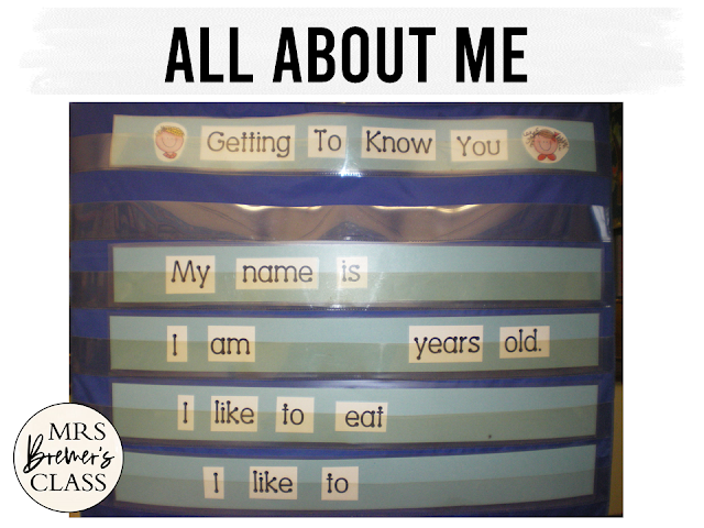 Back to School Getting to Know You activities for Kindergarten, including an All About Me chart and a name practice freebie!