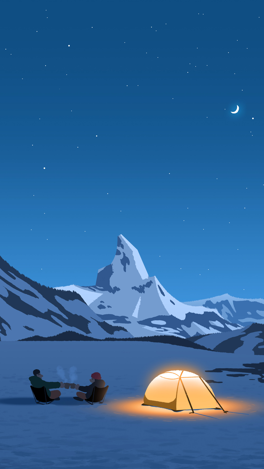 Camping minimal mobile wallpaper