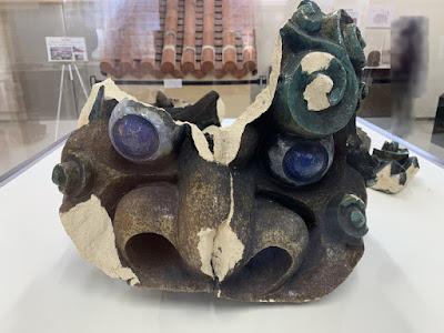 首里城復興展示室の獅子瓦