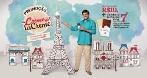 Cadastrar Nova Promoção Cacau Show laCreme 7 Viagens Paris e Bolsas Cheias Chocolates
