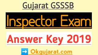 GSSSB Inspector Answer key 2019