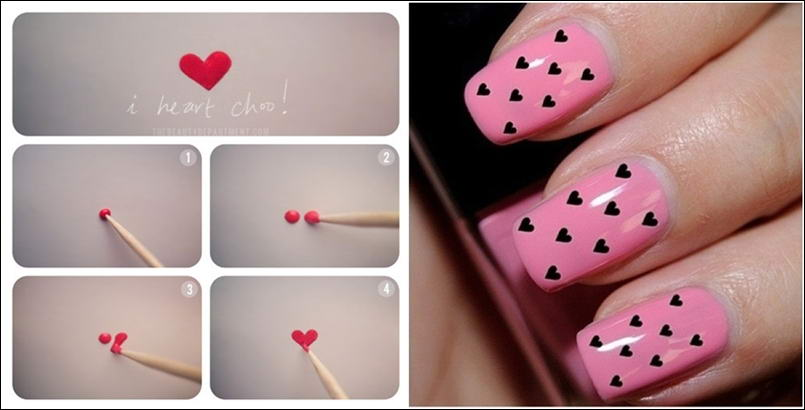 Valentines Special Nail Art Wear Your Heart On Your Nails