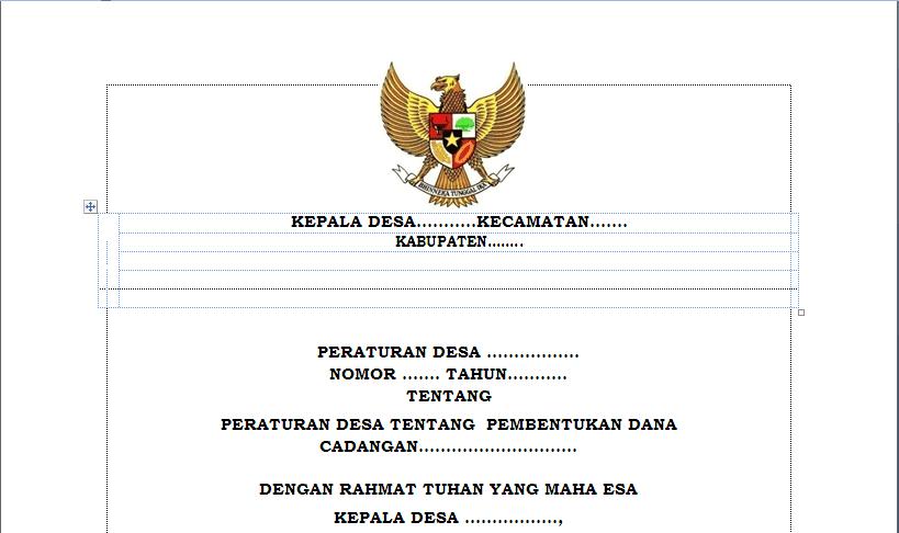 Peraturan Desa Tentang Pembentukan Dana Cadangan Peraturan Desa Tentang Pembentukan Dana Cadangan