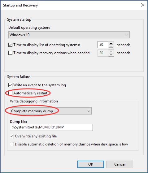 ايقاف الشاشة الزرقاء ويندوز 10 و 8
