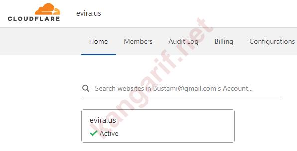 menambahkan domain ke cloudflare