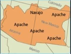 Mapa - Apaches